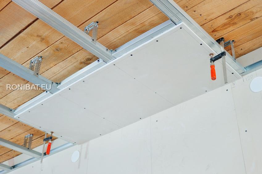poser du gyproc montage isolant cloisons plafond. Black Bedroom Furniture Sets. Home Design Ideas